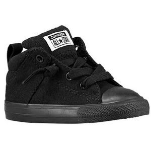 All Black Mid Top Converse toddler size 9